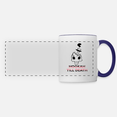"Smoking ""Hookah Till Death"" Design - Panoramic Mug"