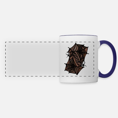 Spiders spiders spider webs - Panoramic Mug