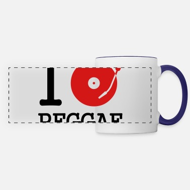 Record I dj / play / listen to reggae - Panoramic Mug