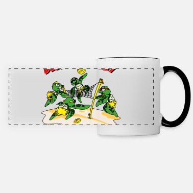 Volley Beach volley turtle - Panoramic Mug