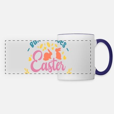 Easter Bunny Bunny Kisses Easter Wishes, Easter Bunny - Panoramic Mug
