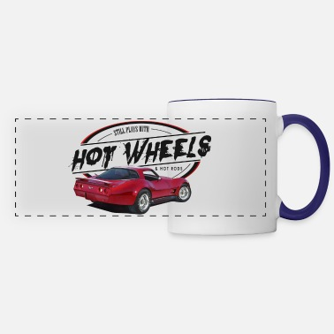 Corvette Still Plays with Muscle Cars - Panoramic Mug