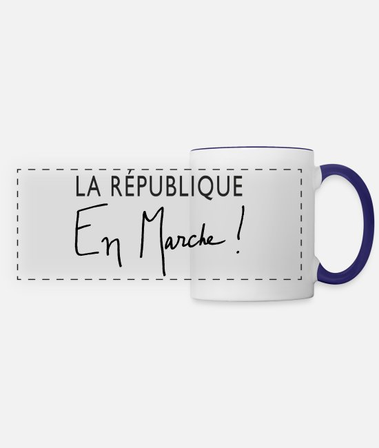 Industry Mugs & Cups - La Republique En Marche! - Panoramic Mug white/cobalt blue