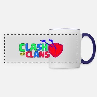 Clash Clash of Clans logo Love - Panoramic Mug