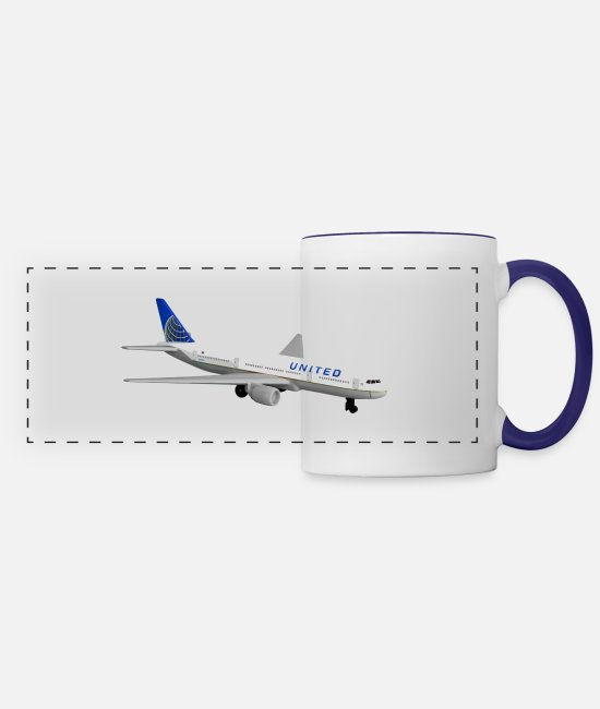 Airways Mugs & Cups - 71cPfeL6ASL SL1500 - Panoramic Mug white/cobalt blue