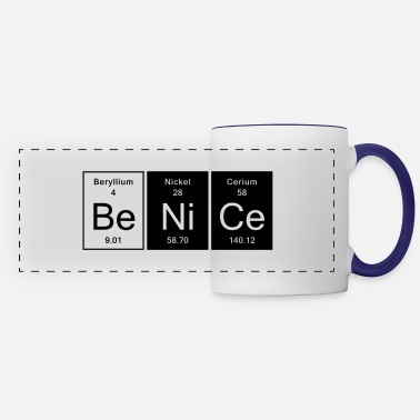 Nice Be Nice - Nice - Panoramic Mug
