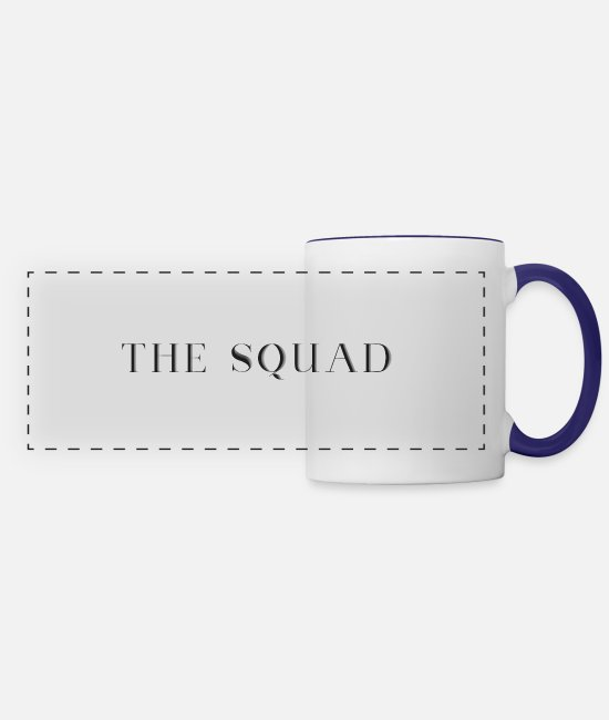 Sters Mugs & Cups - THE SQUAD - Panoramic Mug white/cobalt blue