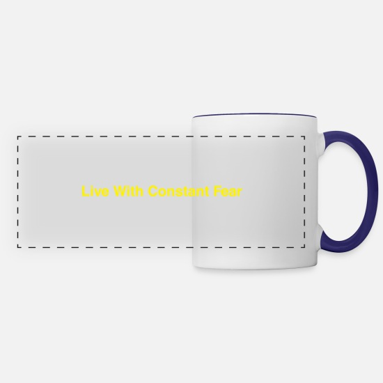 With Mugs & Drinkware - Life-With-Constant-Fear - Panoramic Mug white/cobalt blue