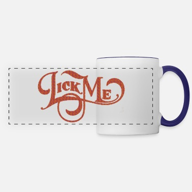 Texture Lick me Title of calligraphy text quotes - Panoramic Mug