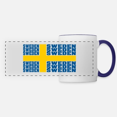 Sweden Sweden sweden sweden national flag - Panoramic Mug