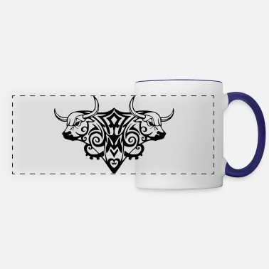 Bullfighting bull, bulls, bullfighting, cowboy boots, ranch, me - Panoramic Mug