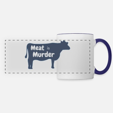 Meat meat is murder white SPREAD - Panoramic Mug
