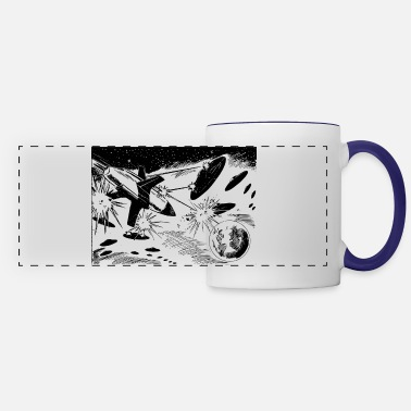 Scifi scifi spacebattle - Panoramic Mug