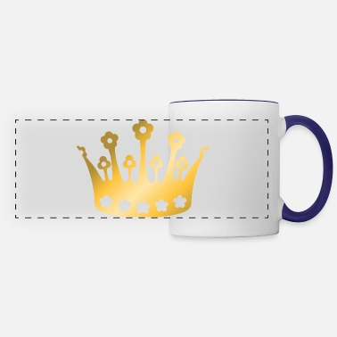 staff-king-vip-golden-crown-roya-goldl-boss-logo - Panoramic Mug