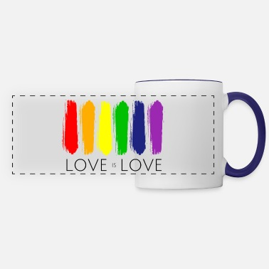 Rainbow Paint Love is Love Painting Rainbow LGBT Gay Pride - Panoramic Mug