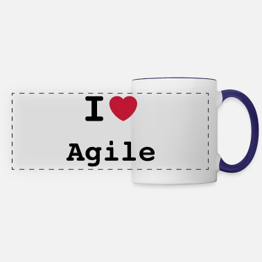 Master I Love Agile - Panoramic Mug