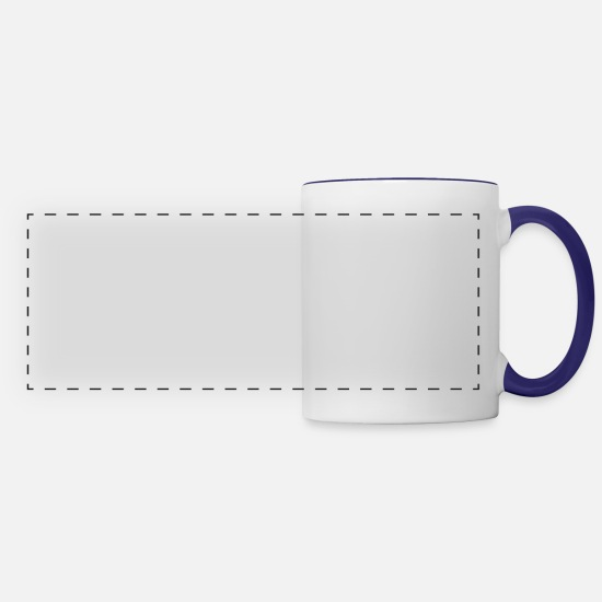 Skydive Mugs & Drinkware - Skydiving is importanter - Panoramic Mug white/cobalt blue