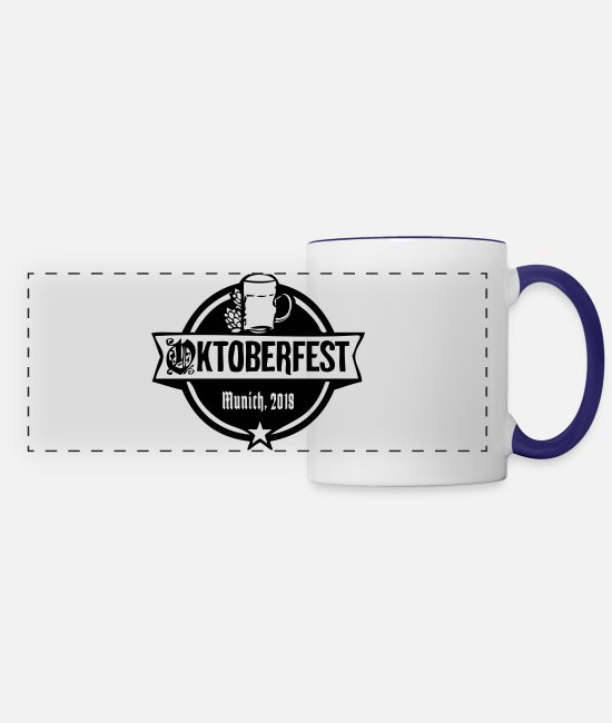 Munich Mugs & Cups - Oktoberfest Munich, 2018 - Panoramic Mug white/cobalt blue