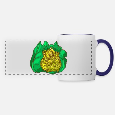 Romanesque Romanesco broccoli Roman cauliflower Broccolo - Panoramic Mug