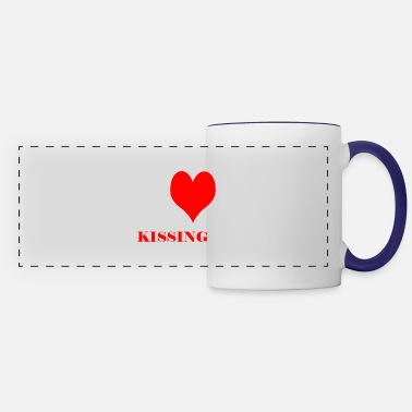 i love kissing - Panoramic Mug