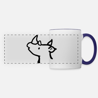 Rhinoceros Cute Rhino - Panoramic Mug