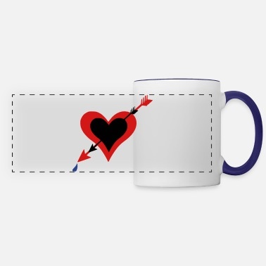Love Struck ➸♥Hearts Bleeding struck by Cupid's arrows♥↢ - Panoramic Mug