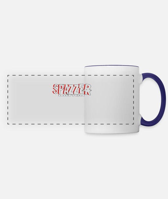 National Team Mugs & Drinkware - Spazzer Nation - Panoramic Mug white/cobalt blue