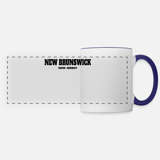 Baseball Mugs & Drinkware - NEW JERSEY NEW BRUNSWICK US EDITION - Panoramic Mug white/cobalt blue