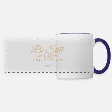 Still Be still and know that I an GOD-Christian Bible - Panoramic Mug