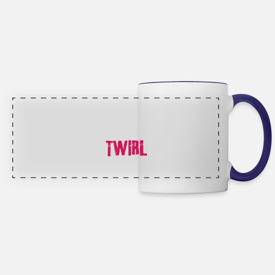 Twirl Mugs & Drinkware - Eat Sleep Twirl Repeat - Panoramic Mug white/cobalt blue