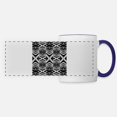 Pattern Black and White Pattern - Panoramic Mug