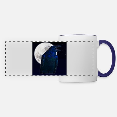 Ravenspeak (Raven and Moon) - Panoramic Mug