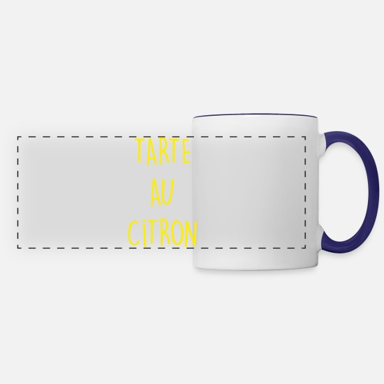 Yummy Mugs & Drinkware - TARTE AU CITRON - Panoramic Mug white/cobalt blue