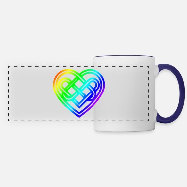 Mythology Celtic Symbol Heart Rainbow Celtic Knots Gift - Panoramic Mug