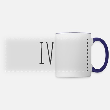 Poster IV (4 FOUR Roman Numeral, Numbers) - Panoramic Mug