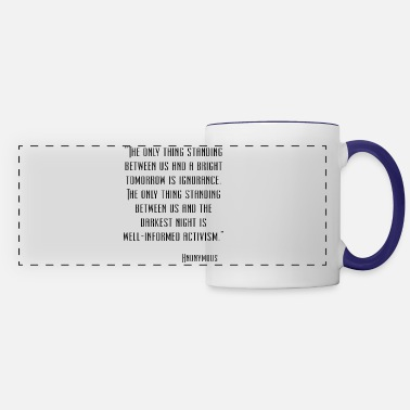 Quote Anonymous Quote - Panoramic Mug
