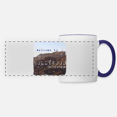 Los Angeles Welcome to Hollywood Vintage - Panoramic Mug
