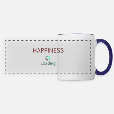 Artist Happiness loading title text quotes - Panoramic Mug