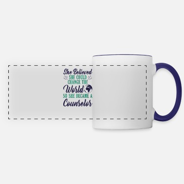 Health Mental Health Awareness She Believed She Could - Panoramic Mug