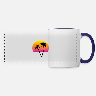 palms and sun II - Panoramic Mug