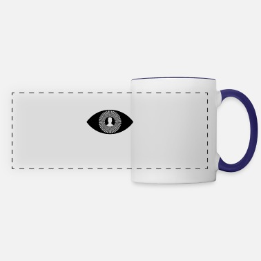 Eye Monitoring illuminati eye monitoring - Panoramic Mug