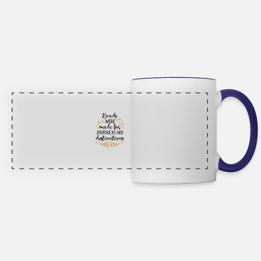Creature Roads were made for Journeys not destination - Panoramic Mug