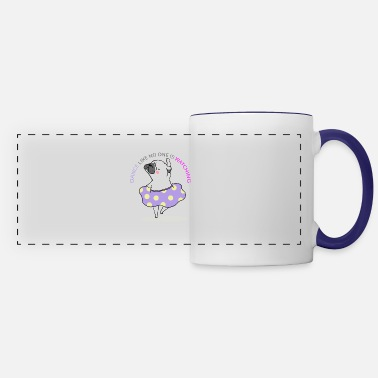 Dance Like No One Is Watching-white pug dancing - Panoramic Mug