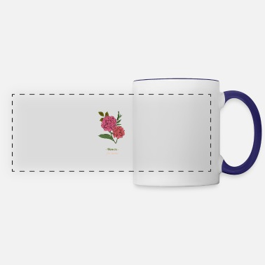 Rose artistic mother's day bouquet lilac woman gift - Panoramic Mug