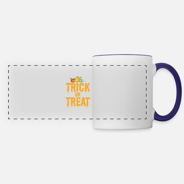 Trick Or Treat Trick or Treat Halloween Pumpkin - Panoramic Mug