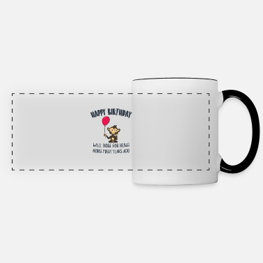 Monkey Happy Birthday Well Done For Being Born Many Years - Panoramic Mug