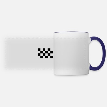 Pattern Black T Shirtcheckered Black and White Pattern - Panoramic Mug