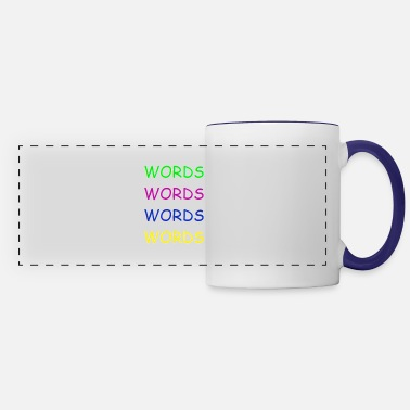 Word Words Words Words - Panoramic Mug