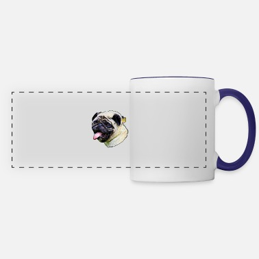 Smudge Pug smudge art - Panoramic Mug