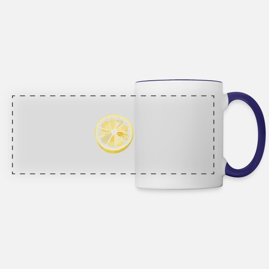 Fruit Mugs & Drinkware - fruit - Panoramic Mug white/cobalt blue